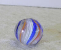 #12636m Vintage Peewee .45 Inches German Handmade Latticino Swirl Marble *Mint*