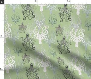 Octopus Cephalopod Sea Creature Ocean Marine Spoonflower Fabric by the Yard