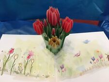 Mother's Day 3D Pop Up Card Tulip Greeting Card Love Birthday Anniversary