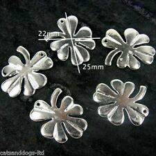 Four Leaf Clover, Lucky Irish Charms Pendant Jewellery Charm Bracelet X 10 CH1