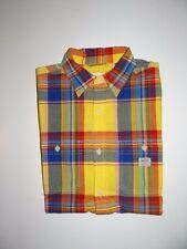 Polo Ralph Lauren Men's Denim & Supply Yellow/Multi 100% Cotton S/S Shirt Sz M