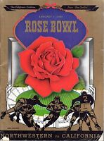 1949 Rose Bowl Football program, Northwestern Wildcats vs. California Bears ~ Fr
