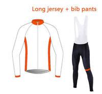 Custom Cycling Jersey Bib Short Retro Road Pro Clothing MTB Long Sleeve