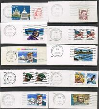USA 1980s/1990s. Selection of 10 items on piece. Postmarks for study.
