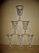6 verres a vin ROUGE 15,5 cl modèle TUILERIES cristal d'arques France lot série