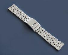 Uhrenarmband Edelstahl 22mm massive passend für Seiko Citizen Chronomat