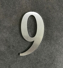 Zahl 9 Metall Edelstahl Zahlen Hausnummern Schilderbeschriftung Schriftzüge 6cm