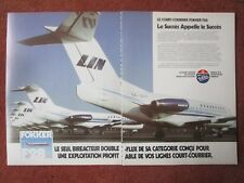 10/1983 PUB FOKKER AIRCRAFT HOLLAND FOKKER F28 LINJEFLYG AIRLINE FRENCH AD