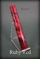 "Acrylic / Resin Pen Blank ... ""Ruby Red"" .. #58"