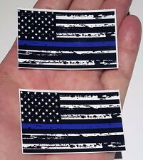 "MINI Thin Blue Line Police respect flag Vinyl Decal Sticker 2.5"" Law Enforcement"