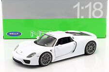 Porsche 918 Spyder Hard-Top weiß 1:18 Welly