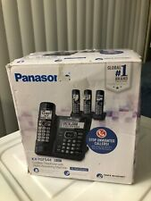 Panasonic Digital Answering Machine Cordless Phone System w 4 Handsets Black New