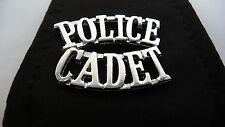 NEW Pair Silver Metal Vintage Police Cadet Epaulette Shoulder Badge Badges A3