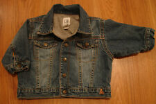 baby GAP Bear Lined Distressed Blue Jean Jacket 3-6 M infant boy/girl denim coat