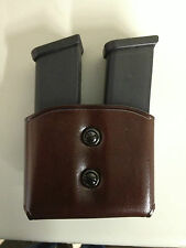 Galco DMC ( Double Magazines Carrier) Havana 9mm, .40, Single Column #DMC18H