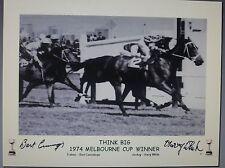 THINK BIG signed 1974 Melbourne Cup winner
