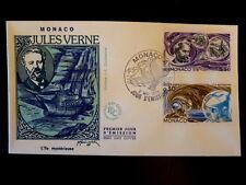 MONACO PREMIER JOUR FDC YVERT  1127+1130  J.VERNE-ILE MYSTERIEU  5,50+0,30F 1978