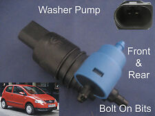 Front & Rear Windscreen Washer Pump VW Fox 1.2 1.4 2006 through to 2012