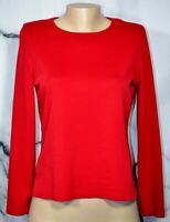 ST. JOHN'S BAY Red Long Sleeved 100% Cotton Top Unlined Versatile