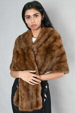 Authentic Hudson Bay Company Brown Rabbit Fur Stole Size OS