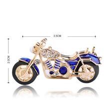 DETAILED MOTORBIKE BROOCH - NAVY BLUE ENAMEL - FREE UK P&P........CG1007