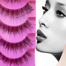 5 Pairs Makeup Handmade Long Thick Cross False Eyelashes Eye Lashes q7