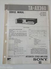 Schema SONY - Service Manual Integrated Stereo Amplifier TA-AX360 TAAX360