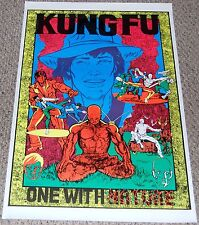 KUNG FU One With Nature Blacklight Martial Arts Collage Poster 1973 Carl Taylor