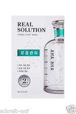 3x MISSHA Real Solution Tencel Sheet Mask (Pore Control) AHA, BHA