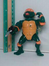 1989 TMNT Teenage Mutant Ninja Turtles Wacky Action Michelangelo Mike Figure Gun