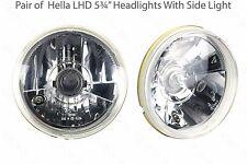 "Hella 5 3/4"" LHD Halogen Headlight/Headlamps Dipped, Main Beam & Sidelight"