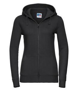 266F Russell Authentic Zip Hooded Sweatshirt Black