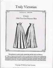 Schnittmuster Truly Victorian TVE 23: 1906 Ten Gore Princess Skirt