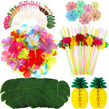 198 Pieces Hawaiian Party Decorations Set Including 2 Tissue Paper Pineapples 24