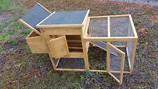 XL Hühnerstall Hühnerhaus Kaninchenkäfig Hasenstall Hühner Kaninchenstall C11-BR