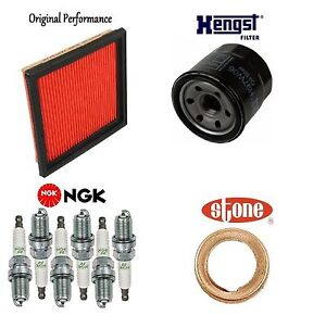 Tune Up KIT Air Oil Filters Plugs Gasket for Infiniti G25 2011-2012