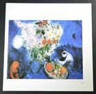 """Marc Chagall, Hand Signed Print """"The Large Bouquet"""" (with a chicken), w/ COA"""