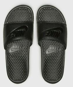 Nike Men's Slide Sandal Flip Flop Man Massage Flipflop Slipper Arch Strap Black