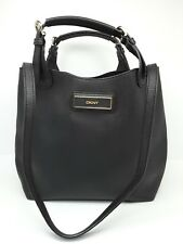 DKNY Black Saffiano Leather Small Tote Bag