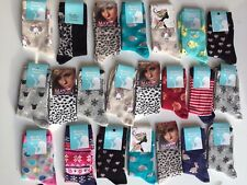 20 pairs ladies women luxury socks coloured design cotton blended size4-7 BINGOL