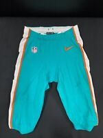 #36 MIAMI DOLPHINS NIKE GAME USED AQUA CURRENT STYLE PANTS 2019/2020 SEASON