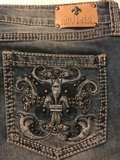 Buffalo Jill Mid-rise Distressed Capri Women's Studded Stretch Jeans Size 31