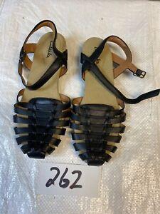 clarks sandals Flat Women Size 8.5 Lather Black