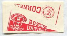 1961 NU-CARDS FOOTBALL PENNANT CORNELL & BOSTON UNIVERSITY