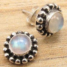 Free Shipping on Additional Items! Silver Plated Rainbow Moonstone Earrings