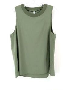 ATHLETA Zephyr Tank Sage Green Tulip Hem Lightweight Athleisure Top Sz M