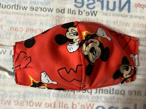 CHILD FACE fitted MASK COVER, HANDMADE USA Washable/Reusable unisex Cameo Disney