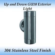 2 Light up and Down GU10 Exterior Wall Light in 304 Stainless Steel