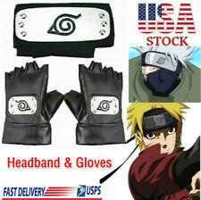 Naruto Headband Leaf Village Headband and Cosplay Gloves Naruto Anime Cosplay