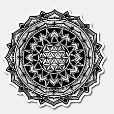 Valeria Mandala Sticker   LIMITED EDITION   Sacred Geometry Ink Art Tattoo